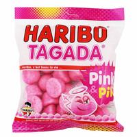 Haribo Tagada Pink Strawberry Gummy Candy 3.5 oz. (100g)
