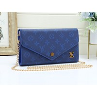 LV popular casual lady shopping bag fashion printed patchwork color shoulder bag #3