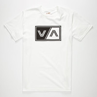 Rvca Va Tab Mens T-Shirt White  In Sizes