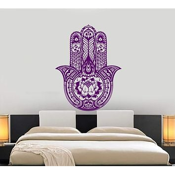 Wall Vinyl Hamsa Amulet Talisman Arabic Cool Decor Unique Gift z3966