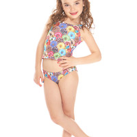 Kids Stacked Donuts Sport Tankini