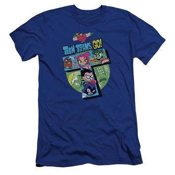 Teen Titans Go - T Premium Canvas Adult Slim Fit 30/1 Shirt Officially Licensed T-Shirt