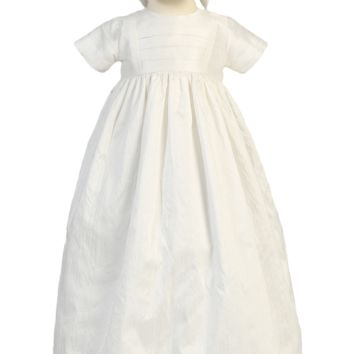 Family Generation Heirloom Silk Christening Gown w Hat & Bonnet (Baby Boys or Girls Newborn - 18 months)