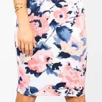 Sweet Floral Pencil Skirt