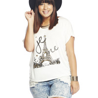 Love Paris Knot Back Tee | Wet Seal +
