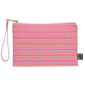 Allyson Johnson Pink Native Aztec Pouch
