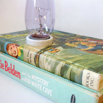 Book Table Lamp Trixie Belden and Kay Tracey by retrograndma