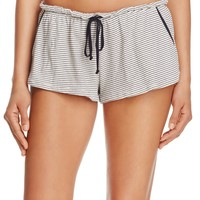 EberjeyStriped Pajama Shorts