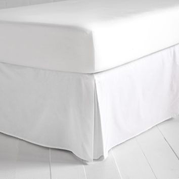 Simple White Bedskirt