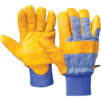 FlyLow Gear Tough Guy Glove 1/2 Leather,