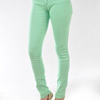 Superb Jeggings in Mint Green