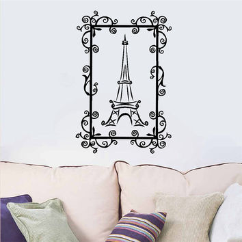Room Stickers The Eiffel Tower Stickers , Paris Eiffel Tower Vinyl Wall Art Mural