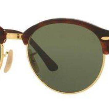 Ray Ban RB4246 Round Clubmaster 990/58 (51mm), Unisex Sunglasses