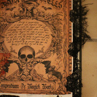 Creepy Halloween Witch Spell Book great Halloween decor