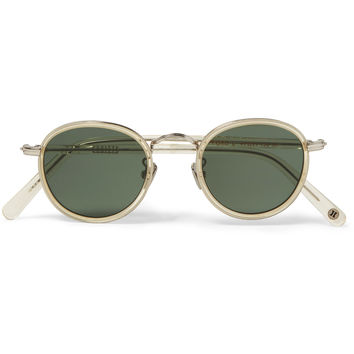 Cubitts - Gifford Round-Frame Acetate and Silver-Tone Sunglasses