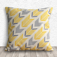 Pillow Cover, Pillow Case, Cushion Cover, Linen Pillow Cover 45x45cm - Printed Geometric - 018