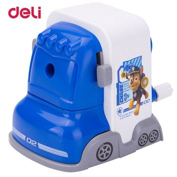 Deli Bus PAW Patrol Cartoon Mechanical Pencil Sharpener Stationary Office Hand-operated Manual Sharpener School Supplies for Kid