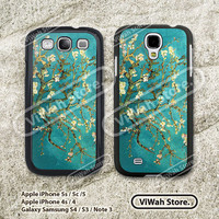 Van Gogh Floral Samsung Galaxy S4 S3 Case, Oil Painting Flower Galaxy S3 S4 Hard Case Rubber Case, cover skin case for Galaxy S4 S3