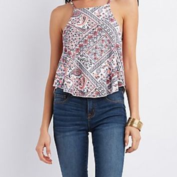 PAISLEY PRINT SWING TANK TOP