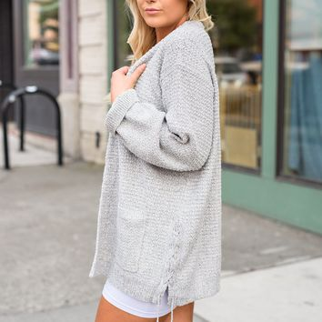 Amare Knitted Cardigan (Grey)