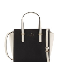 cedar street small hayden tote bag, black/pebble - kate spade new york