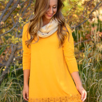 On The Edge Dress - Mustard