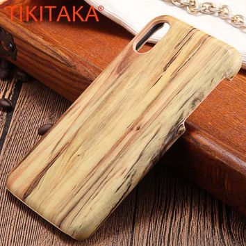 iPhone X Wood Phone Cases Ultra thin Top Quality Wooden Soft TPU Silicone Silicon Back Cover Phone Shell Coque Capa New
