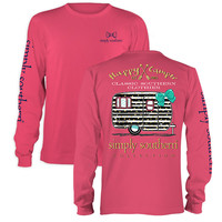Simply Southern Preppy Happy Camper Arrows Long Sleeve T-Shirt