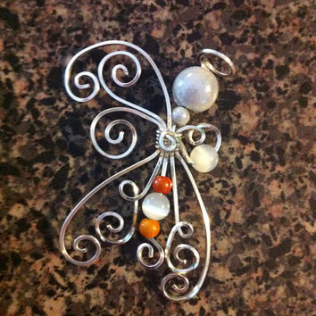 Wire Wrap Angel Ornament Christmas Decoration