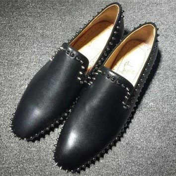 DCCK Cl Christian Louboutin Loafer Style #2395 Sneakers Fashion Shoes