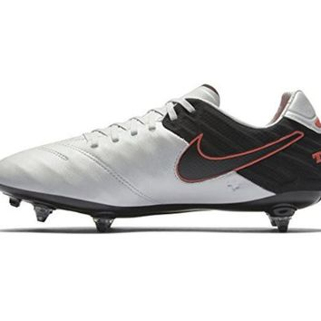 DCCK8BW Nike Tiempo Legacy II SG Mens Football Boots 819716 Soccer Cleats (US 10 pure platinum black hyper orange 001)