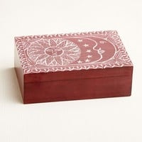 Red Sun and Moon Soapstone Box