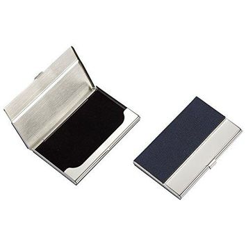 RFID Blocking Minimalist Wallet ndash 2 Pack Aluminum Credit Card Holder Smart Wallet for Business Card ID License and Money Clipping Black and Silver 4 x 25 x 025 Inches