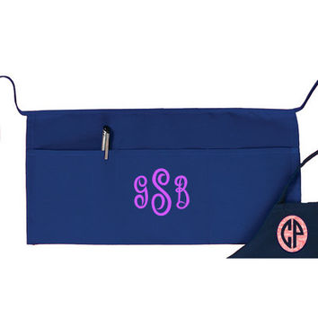 MONOGRAMMED or NAME Waist Aprons- Perfect for Servers/ Waitresses/ Artists/ Painters