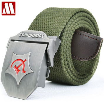 Soviet Union Tactical Canvas Belt Men Canvas Outdoor Belt Russia Military Equipment Men's Belts Luxury For Men