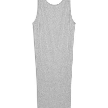 Helmut Lang Feather Jersey Dress in Grey