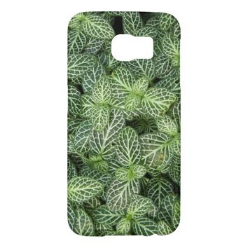Green Leaves Floral Samsung Galaxy S6 Cases