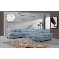 Luxury Perugia Morden Leather 6 Seater Sectional Sofa+Chaise