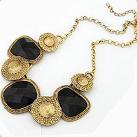 Gorgeous Vintage Style All-matched Asymmetrical Gemstone Necklace
