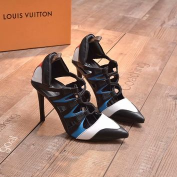 Louis Vuitton LV 2018 Women Fashion Casual Heels Shoes