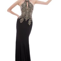 Audrey Bride Vintage Long Prom Formal Party Gowns Mermaid Dresses Bodycon-4-Black