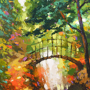 The path. High Quality Print on Canvas, Dmitry Spiros, living room decor wall art, home decor, house decor.