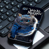Hard Plastic Case - Alice Wonderland Cheshire Cat  Smile- iPhone 4/4s, iPhone 5, iPhone 5s, iPhone 5c, Samsung S2, S3, S4