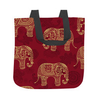 Paisley Elephants Tote Bag