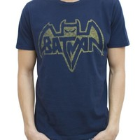 Batman Logo Vintage Inspired Solid Tee - Men's Collections - Superheroes - DC - Batman - Junk Food Clothing