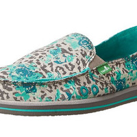 Donna Mixed Up Slip-On Leopard & Floral Loafers