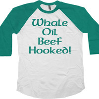 Saint Patricks Day Shirts St Patricks Day T Shirt St Pattys Day St Pats Whale Oil Beef Hooked 3/4 Sleeve TShirt Baseball Raglan Tee - SA752