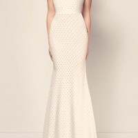 The Lucia Crystal Bow Open Back Gown   Moda Operandi