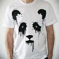 Vanishing Panda on American Apparel Mens t shirt / by ironspider
