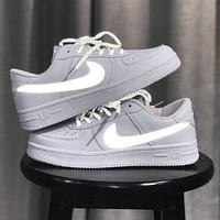 Nike Air Force 1 reflective men's and women's sneakers shoes